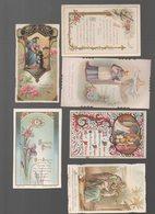 Lot De 6 Images Religieuses Anciennes En Couleurs (PPP16281) - Devotion Images