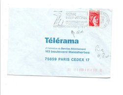 FLAMME FESTIVAL INTERNATIONAL DE DANSE DE MONTPELLIER HERAULT 1981 - Postmark Collection (Covers)