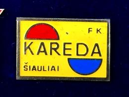 Football Pins  -  F.K. KAREDA, Siauliai - Lithuania. - Football