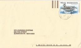 Barbados 1997 Bridgetown USS John F Kennedy 1982 Cover - Barbados (1966-...)
