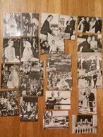 MONACO:TRES BEAU LOT RARE DE 22 CHROMOS 5X7 (PHOTO) DU MARIAGE DE GRACE KELLY  ET RAINIER DE MONACO - Monaco