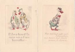 624/ Serie Van 18 Getekende Kaarten, Dieren, Spreuken, Uitspraken, KKB - Cartes Postales