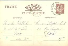 CARTE POSTALE 1940  NICE - Enteros Postales