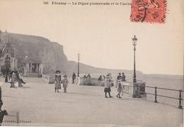 Fecamp La Digue Promenade Et Le Casino 1928 (LOT AE 23) - Fécamp