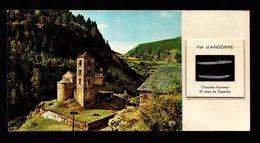 !!! ANDORRA ANDORRE !!! Carte Postale Diacolor Avec Sa Diapositive édition APA N° 108 Canillo St Jean Casell  Série Rare - Andorre