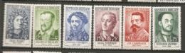 Yv. N° 1166 à 1171  Complet  ** MNH  Célébrités Cote 15 Euro TBE - France