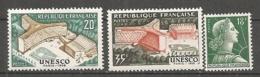 Yv. N° 1177,1178, 1011A (II)   ** MNH  UNESCO, Marianne  Cote 0,75 Euro TBE - Francia