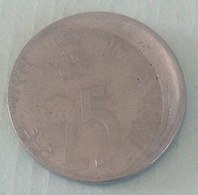 1999..25 Paisa..Error Circulated Coin - Inde