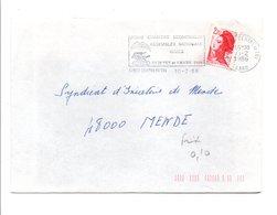 FLAMME JEUNE CHAMBRE ECONOMIQUE DE NIMES GARD 1986 - Postmark Collection (Covers)