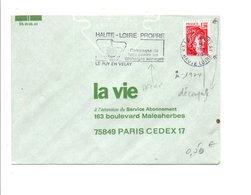 FLAMME CAMPAGNE HAUTE LOIRE PROPRE LE PUY EN VELAY 1979 - Postmark Collection (Covers)