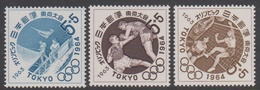Japan SG935-937 1963 Olympic Games Tokyo 4th Issue, Mint Never Hinged - 1926-89 Emperor Hirohito (Showa Era)