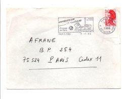 FLAMME APPRENEZ LUI LE CANIVEAU PARIS 1986 - Postmark Collection (Covers)