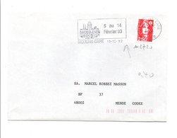 FLAMME FOIREXPO DE MOULINS ALLIER 1992 - Postmark Collection (Covers)