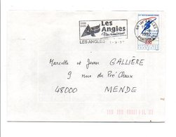 FLAMME DE LES ANGLES PYRENEES ORIENTALES 1992 - Postmark Collection (Covers)