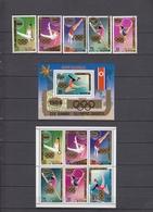 North Korea 10.02.1983 Mi # А 2130-34, A 2130-35 Kleinbogen Bl А 98 1984 Los Angeles Summer Olympics (I) MNH OG - Estate 1984: Los Angeles