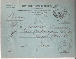 Jura :- JOURNAUX P.P. LONS LE SAULNIER Sur Devant De Lettre - Marcophilie (Lettres)