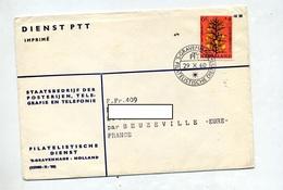 Lettre Cachet S'gravenhagen Sur Fleur - Machine Stamps (ATM)
