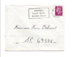 FLAMME DE COUTRAS GIRONDE 1969 - Postmark Collection (Covers)