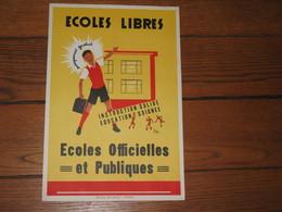 VERVIERS Et Sa Région - Superbe Affiche - Ecoles Libres, Officielles Et Publiques - Enseignement Gratuit (b242) - Affiches