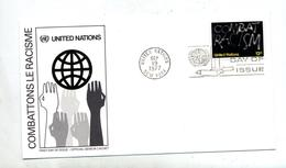 Lettre Fdc 1977  Contre Racisme - New-York - Siège De L'ONU