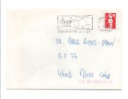 FLAMME DE STIRING-WENDEL MOSELLE 1991 - Postmark Collection (Covers)