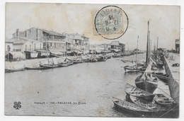PALAVAS EN 1905 - N° 196 - LES QUAIS - CPA VOYAGEE - Palavas Les Flots
