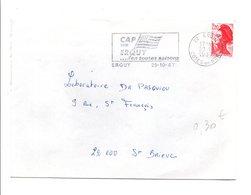 FLAMME DE ERQUY COTES DU NORD 1987 - Postmark Collection (Covers)