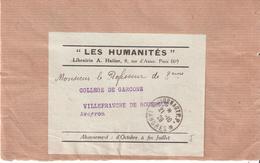 Haute Marne :- JOURNAUX P.P. LANGRES Sur Devant Bande Journal LES HUMANITES - Marcophilie (Lettres)