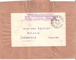 Nièvre :- JOURNAUX P.P. NEVERS Sur Bande Journal REVUE DU NOTARIAT - Marcophilie (Lettres)
