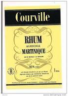 Etiquette  RHUM Agricole Courville  - André Dormoy, Fort De France - 50% 1l. - MARTINIQUE - - Rhum