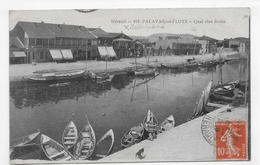PALAVAS LES FLOTS EN 1919 - N° 673 - QUAI RIVE DROITE - CPA VOYAGEE - Palavas Les Flots