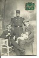 1912-carte Photo D'un Soldat Du 106° Regiment Avec Deux Amis - Autres