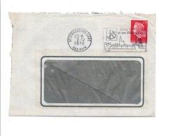 FLAMME VISITEZ STRASBOURG EN BATEAU 1970 - Postmark Collection (Covers)