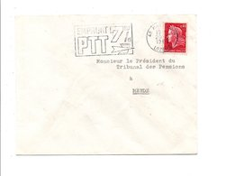 FLAMME EMPRUNT PTT 7% MARVEJOLS LOZERE 1969 - Postmark Collection (Covers)