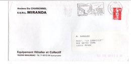 FLAMME DE MAURIAC CANTAL 1992 - Postmark Collection (Covers)