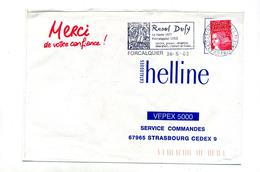 Lettre Flamme Forcalquier Dufy - Postmark Collection (Covers)