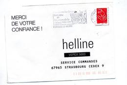 Lettre Flamme Fontaine Le Bourg Berceau Automobile - Postmark Collection (Covers)