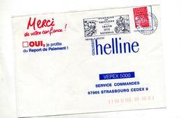 Lettre Flamme Fontaine De Vaucluse Site Petraque - Postmark Collection (Covers)