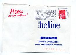 Lettre Flamme Foncine Ski Cheval - Postmark Collection (Covers)