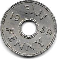 *fiji 1 Penny 1959  Km 21  Xf+!!! - Figi
