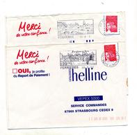 Lettre Flamme Ferrieres Eglise Chateau - Postmark Collection (Covers)