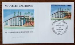 Nouvelle Calédonie - FDC 1995 - YT Aérien N°328 - Conférence Du Pacifique Sud - FDC