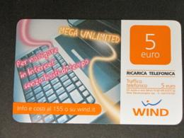 ITALIA WIND - MEGA UNLIMITED - 30/06/2014 USATA - Schede GSM, Prepagate & Ricariche
