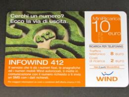 ITALIA WIND - MINI RICARICA INFOWIND 412 - 30-06-2007 PIKAPPA USATA - Schede GSM, Prepagate & Ricariche