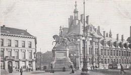 ANTWERPEN / NATIONALE BANK EN MONUMENT LEOPOLD I / TRAM /TRAMWAYS / PUBLICITEIT LE TEDDY - Antwerpen
