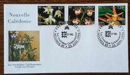 Nouvelle Calédonie - FDC 1996 - YT N°717 à 719 - Capex'96 / Exposition Philatélique / Flore / Orchidées - FDC