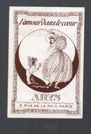 Carte Parfumée ARYS L'amour Dans Le Coeur  Offerte Par L GRIZOU (Carcassonne 11 Aude)  (PPP16284) - Perfume Cards