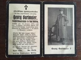 Sterbebild Wk1 Bidprentje Avis Décès Deathcard IR Herzlähmung 1919 Aus Bad Aibling - 1914-18