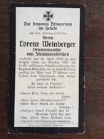 Sterbebild Wk1 Bidprentje Avis Décès Deathcard RIR13 München Aus Schwannenkirchen - 1914-18