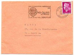 CALVADOS - Dépt N° 14 = DEAUVILLE 1968 = FLAMME Codée = SECAP Illustrée 'CONVENTION Nationale Lions Clubs' - Postmark Collection (Covers)
